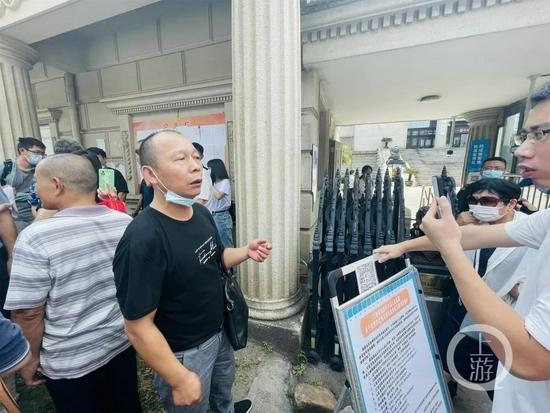 9月9日,江西南昌,劳荣枝的二哥劳声桥表示对判决结果不满意,要上诉。摄影/上游新闻记者 时婷婷