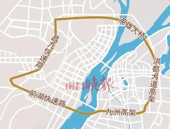 """南昌""""一环"""" 图片来源:南昌晚报"""