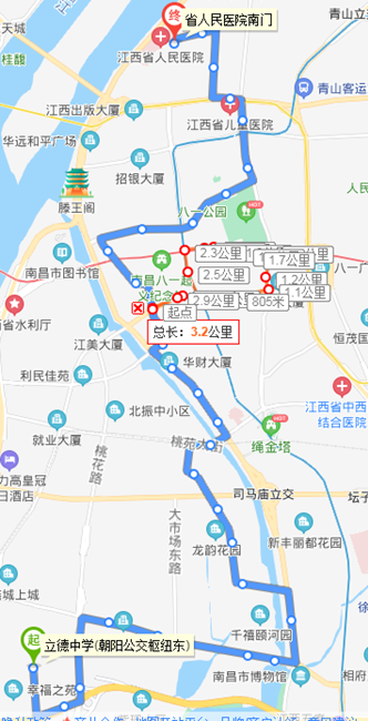 南昌豫章路改为由南向北单行 三条公交线路有调整