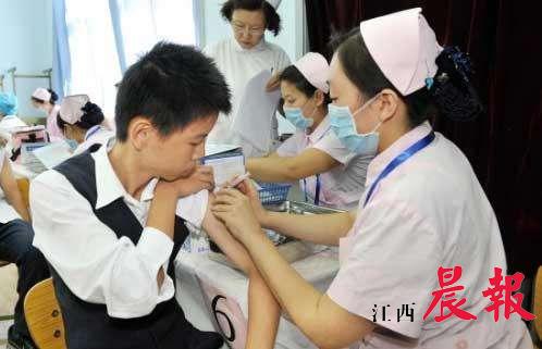 市民接种疫苗。