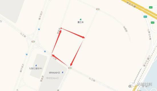 手绘学校地理图