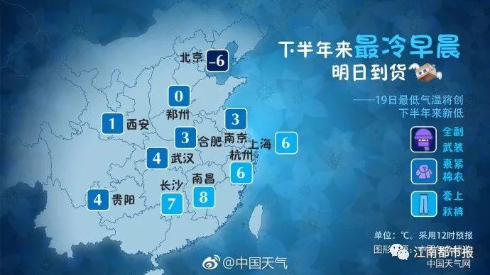 江西:一夜骤降10多度 下半年最冷一天来了