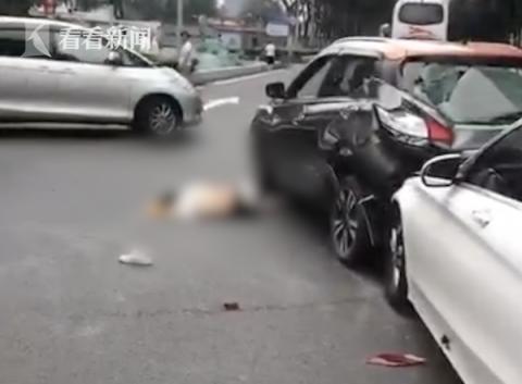 司机闯红灯撞倒行人后又连撞两车 致13人受伤