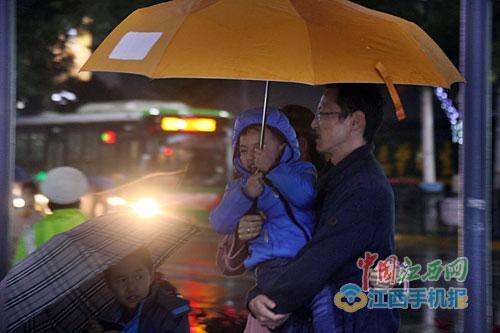 昨日,省城南昌北风呼啸,降温降雨。 图/江南都市报全媒体记者杨高辉