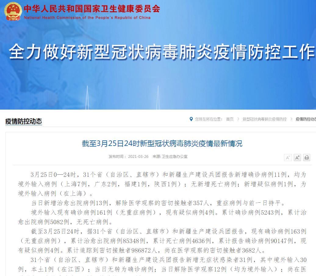 国家卫生健康委员会官方网站截图