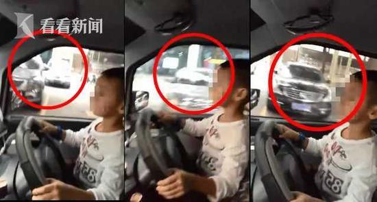 车窗外移动的景物可以明显感觉到车辆是在行驶过程中。