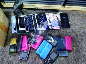 警方缴获的作案手机