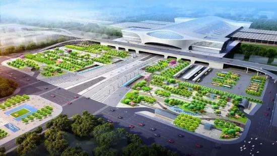 赣州高铁西站东广场项目效果图
