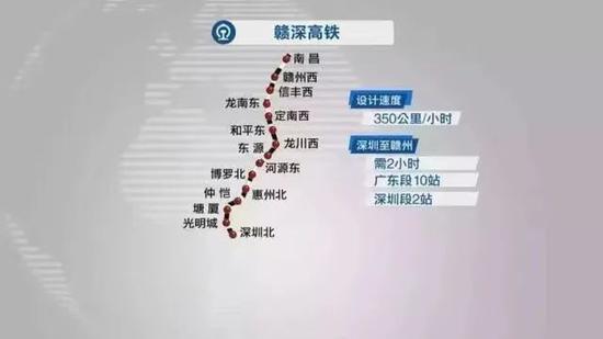 赣深高铁线路图