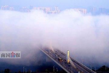 开车请注意!江西255处高速路段易起团雾