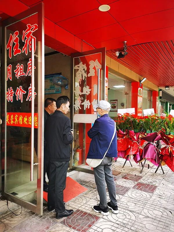 郭沛东到宾馆了解父亲当时住宿情况。澎湃新闻记者 朱远祥 图