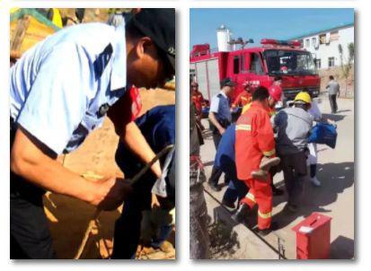 经过现场施救人员的齐心协力