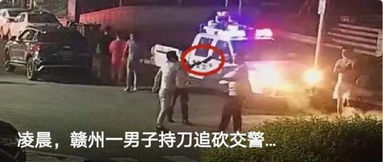 宁都一男子持刀追砍警察 被判拘役5个月