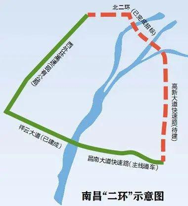"""南昌""""二环"""" 图片来源:江南都市报"""