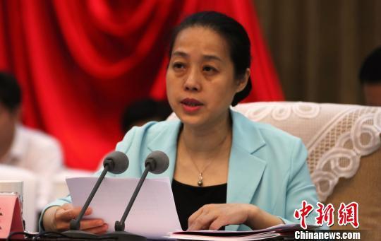 全国妇联副主席、书记处书记张晓兰讲话。 刘占昆摄