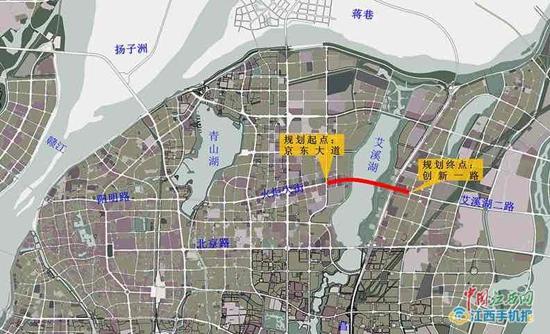 南昌艾溪湖隧道项目已获批 全长2.6千米双向6车道