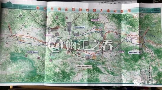 南丰至瑞金铁路规划线路示意图曝光 抚州可直达深圳