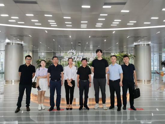 南昌红谷滩新区管委会招商小分队赴新浪集团总部考察