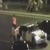 视频显示,在红谷隧道内,四辆摩托车超速行驶。