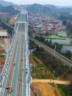 武九客运专线建设基本完成 进入精调阶段