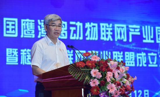 江西省人民政府副省长李贻煌讲话。徐蓉摄