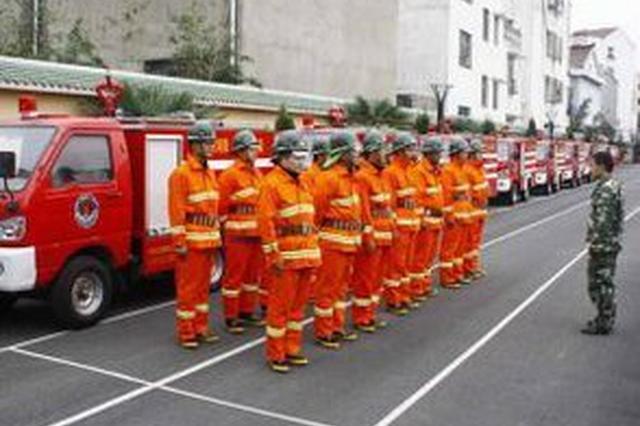 明升体育市建成政府专职消防队32支 拥有专职消防员613名