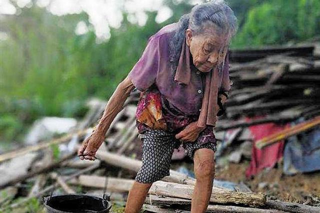81岁老太隐居山林14年 自称从未生过大病(图)