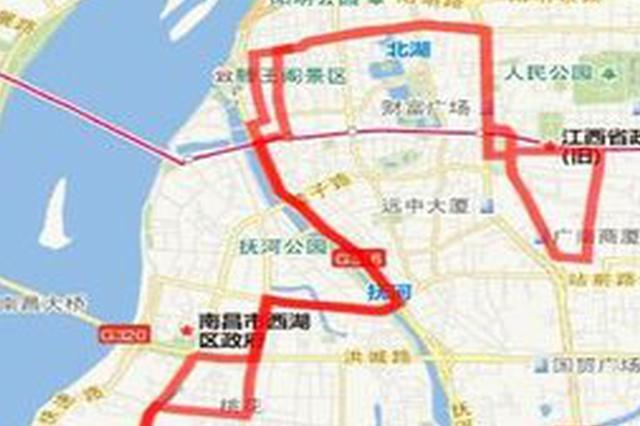 南昌7条公交线路有调整 38路等调整至枢纽站运营