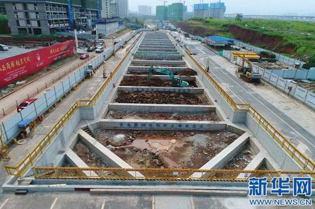 南昌地铁4号线礼庄山站全线率先主体基坑开挖