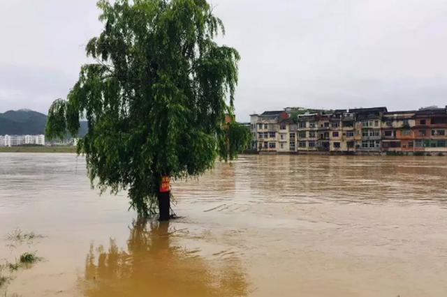 强降雨致江西龙南县多地受灾 群众生活受严重影响