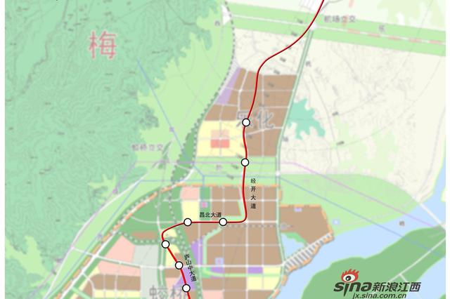 南昌地铁1号线北延线、2号线东延线最新规划出炉