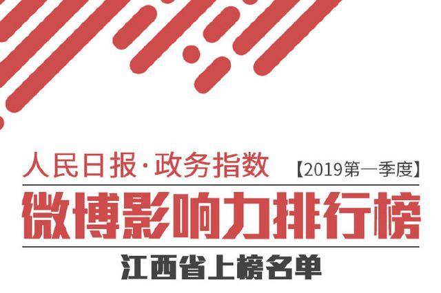2019年一季度政务微博影响力报告:江西这些账号上榜