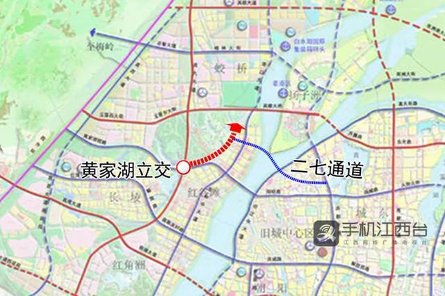 规划最高设速80km/h 黄家湖立交连接二七隧道高架提速