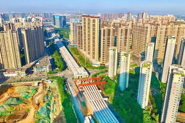赣南大道快速路工程 预计于2019年底完工