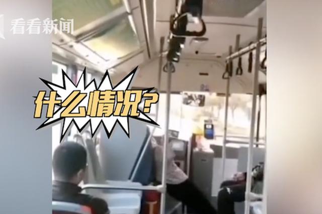"""老太乘公交少投币被揭穿 躺车厢""""表演""""全身抽搐"""