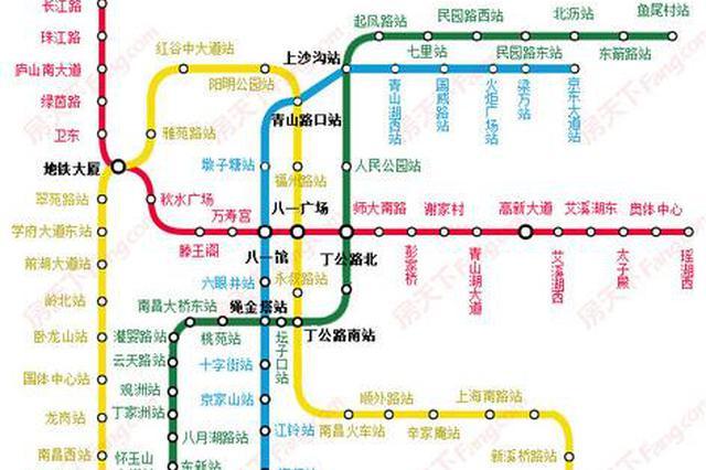 南昌地铁3号线19座车站封顶 4号线8座车站封顶