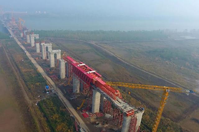 鳊鱼州长江大桥预计2021年底建成