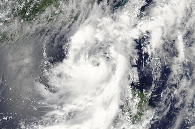 """受台风""""米克拉""""影响 鄱阳湖水位退幅减缓"""