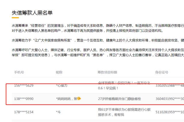 """""""错换人生28年""""姚策被两筹款平台拉入黑名单"""