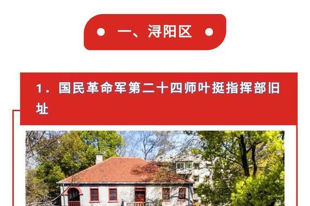 九江选定30处红色地标打卡地 快来看看有哪些