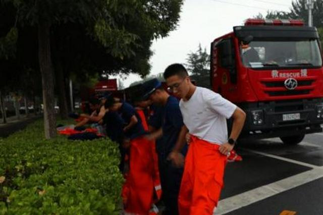 河南籍消防员休假途中奔赴防汛救灾一线