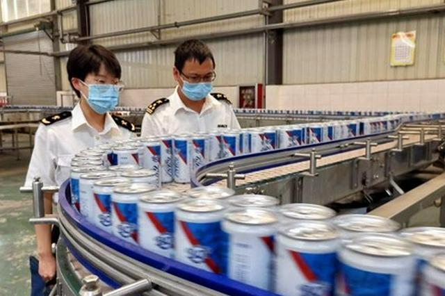 7210箱货值约21万元 江西啤酒首次出口缅甸