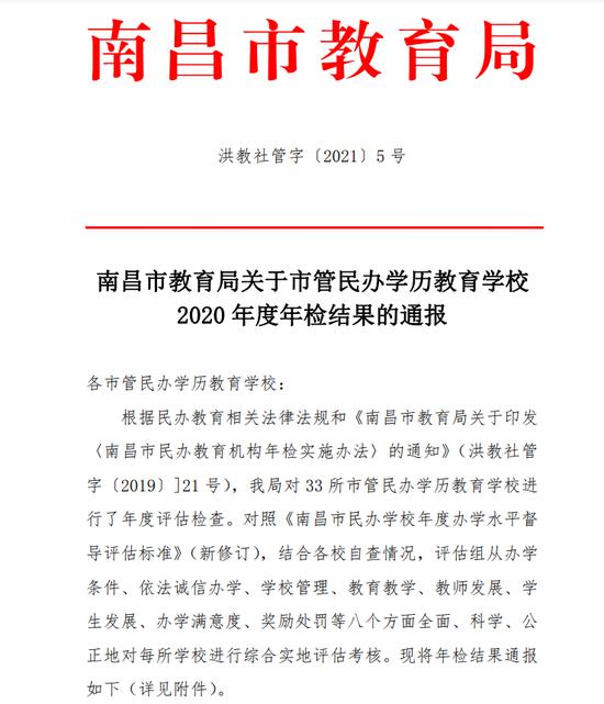 通報!南昌(chang)市紅谷中學等4所民(min)辦學校(xiao)被要求(qiu)限期整(zheng)改