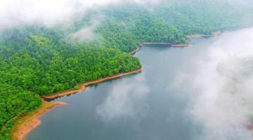 东乡佛岭国际公园云雾缭绕美如画