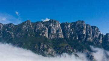 江西庐山五老峰现云海景观