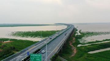 航拍江西最长公路桥梁