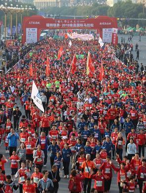 2019南昌国际马拉松激情开跑