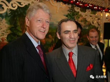克林顿会见世界棋王卡斯帕罗夫