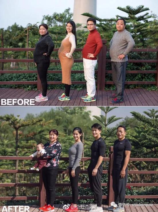 小野一家人都从运动中收获了健康。