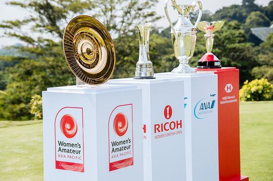 亚太女子业余锦标赛的奖杯直径16英寸,乃25克拉的镀金奖杯,由长期R&A奖杯设计师和制造商Nicholas Winton设计并精心打造